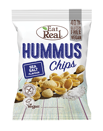 Chipsy z ciecierzycy z solą...